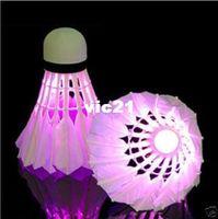 Wholesale LED Badminton Shuttlecock Brand New Dark Night Glow Birdies Lighting Indoor Sports Flash Colors Drop Shipping