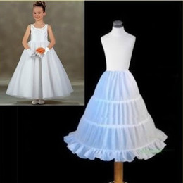 Wholesale 2014 Hot Sale Three Circle Hoop White Girls Petticoats Ball Gown Children Kid Dress Slip Flower Girl Skirt Petticoat DA813