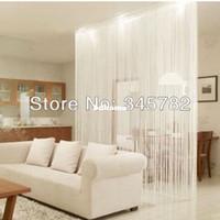 Wholesale big size cmx300cm string curtain string panel fringe panel room divider wedding drapery colors