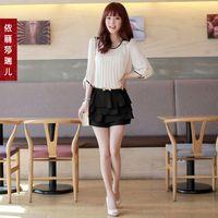 freeshipping for women's Chiffon short skirt plus size skorts summer