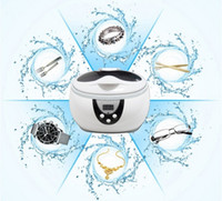 Wholesale High capacity ML W Mini Ultrasonic Cleaners Glasses Watch Jewelry CD Ultrasonic cleaning machine Disinfection Cleaner Tool