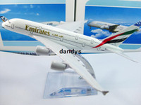 Wholesale New arrival Airlines plane model Emirates airline A380 cm metal airplane models airplane model dandys