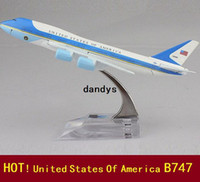 Wholesale new Airlines plane model Aboard air force one B747 cm metal airplane models airplane model dandys