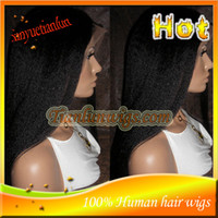 Natural Color Brazilian hair Loose Wave #1B Yaki Straight Full Lace Wig Peruvian Virgin Human Hair Lace Front Wigs For Black Women With Baby Hair Bleached Knots Free Shipping!!!