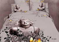 100% Cotton Woven Home 2014 newest butterfly 3d bedding set queen king size 4pcs Marilyn Monroe oil painting duvet cover bedclothes bed linen cotton home textile