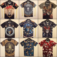 Wholesale 2014 Summer Fashion women men Poker clown Funny D T shirt Top Printed O Neck short sleeve Tee