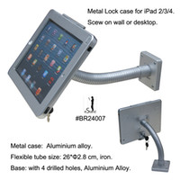 Wholesale tablet desktop display stand wall mount safe lock stand holder mounting gooseneck for iPad air support kiosk protection kit device
