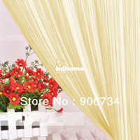 Wholesale Tassel Fringe Light Purple Hanging String Partition Divider x197cm Wall Door Curtain
