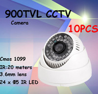 Wholesale 10pcs security camera TVL DIS chipset dome camera indoor video surveillance system
