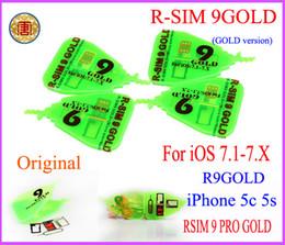 Wholesale Nest R SIM GOLD R SIM9 PRO Gold R SIM Pro Gold r sim rsim r sim Perfect SIM Card AUTO Unlock Official IOS x For iphone c S