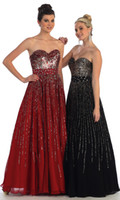 Reference Images Sweetheart Chiffon A-Line Long Prom Party Dresses Sweetheart Neckline Decorated with Sequins Combined with Full Skirt Crystal Detailed 2014 Formal Evening Gown