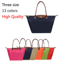 Folding Plain Nylon High Quality Nylon Designer Brand Women Leather Handbags Purses Shopping Bag Folding Mami shoulder Bag Cheap Tote bags Wholesale