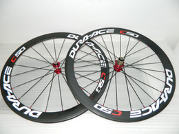 Wholesale Carbon Wheels Road Bike MM Black Red Clincher Carbon Fiber Bicycle Wheelset C