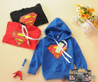 Wholesale Cotton Superman sweaters boys and girls children s clothing Children s Hoodies Sweatshirts