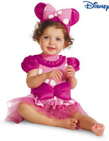 2014 Baby Lace Dress Girls Minnie Mouse Costume Ears Polka D...