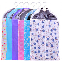 Wholesale New Best Price Clothes Suit Dress Colorful Floral Garment Dustproof Cover Bag Storage Bags Thicken Bag Clips Housekeeping