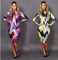 Sexy Women's Multi- color abstract painting Stretchy Bodycon ...