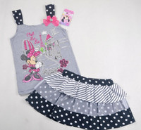 New Product Minnie Mouse Vest Striola Stripe Diamond Lace Co...