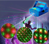 Wholesale MINI Laser Stage Lamps Mini Lazer Star Light Red Green mw Moving Head Stage Lights Party Wedding Bar Stage Effect Lights