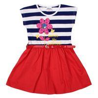 party dresses for baby - Nova baby dress summer flower girl dresses cap sleeve stripe party dresses for baby H4791