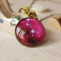 Pendant Necklaces american universe - Amazing Sparkling Sky Universe Necklace Long Necklaces Fashion Costume Jewellery xl037
