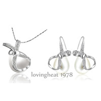 Wholesale 2014 Beautiful platinum Plating Necklace Earrings Crystals Jewelry Women Jewelry TH18KRGPS065