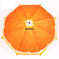 190T Nylon Fabric Raining Umbrellas 2014 Novelty Items Fresh Fruit Orange 3 fold umbrellas for rain man's umbrella Not Automatic Sun Umbrella Manually Free Shipping, dandys