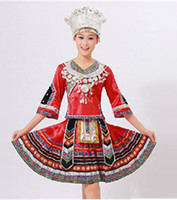 Women hmong - Treasure box Chinese folk dance costumes Hmong clothes customize women s national trend costume dance clothes