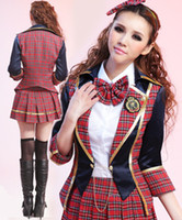 Wholesale New Japanese School Student Uniform Erotic Costume Lingerie Anime Cosplay Fantasias Plaid Clothing Set Fashion Clothes