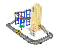 Airplanes car lift - christmas gift for children Four Layer track Thomas Train toy Electric toy car track wiht lift and car