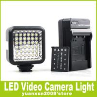 Wholesale WANSEN W36 Professional LED Light DV video light W battery charger for DSLR Cameras Nikon pentax Canon D D D D D D