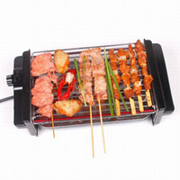 Wholesale 220V BBQ Grills household electric ovens smokeless electric grill lamb skewers grill electric barbecue grill machine c074