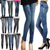 winter leggings - 2014 new women thin Ladies wild snow Denim jeans Leggings pencil pants nine Leggings antnmn winter warm LE9004