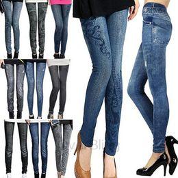 Wholesale 2014 new women thin Ladies wild snow Denim jeans Leggings pencil pants nine Leggings antnmn winter warm LE9004