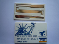 James bond 007 bank card lock pick bank bonds - Locksmith tool James bond bank card lock pick locksmith tools genuine high quality o