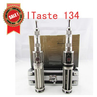 Single Silver Electronic Cigarette 2014 ITaste 134 E Cigarette Kit huge vapor Personal Vaporizer Adjustable Variable Wattage iclear30 atomizer Clearomizer Fast shipping