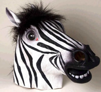 Wholesale Zebra Animal Mask FULL SIZE Life Life Realistic LATEX Costume Adult Head New