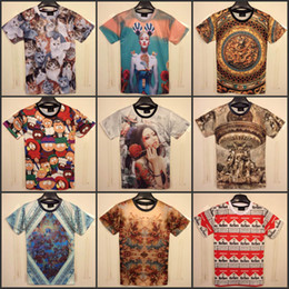 Wholesale 2014 New Summer men s clothing creative D printed t shirts fashion novelty men s t shirt