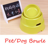 Wholesale Three size four colors rounded dog bowl Pet Drinking Bottle Pet Bowls amp Feeders Dog products