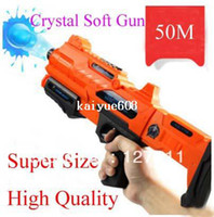 bb bullet guns - Crystal soft bullet toy gun children gun bb sniper submachine gun fired bullets range meters