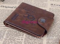 Wholesale Brand new Leather Wallet Cowboy Men Pockets Card Clutch Cente Bifold Purse Leather wallet Men s leather archaize wallet