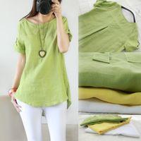 Coffee Women's Clothing Plus Size Cotton Linen Loose Sundress