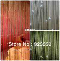 Wholesale m m single color beaded string curtain with gold silver thread room divider wall decoration color