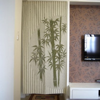 Wholesale Chinese Bamboo Design Door Curtain Japanese Noren D2942
