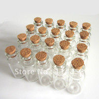 Shanghai China (Mainland) Folk Art China 16x32mm Wholesale Lots 20 Tiny Small Empty Clear Cork Glass Bottles Vials 1.8ml For Wedding Holiday Decoration Christmas Gifts