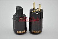 Yes 15A 250V adapter Hi End Japan Oyaide P-079E+C079 24k Gold-Plated Pure Copper Poles EU Power Plug ac power cord plugs