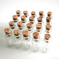 Folk Art China Bottle Wholesale 13x24mm 462 Pcs Tiny Small Empty Clear Cork Glass Bottles Vials 1ml For Wedding Holiday Decoration Christmas Gifts