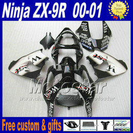 Wholesale Fairing kit for Kawasaki Ninja ZX9R ZX R white black WEST style ZX R zx9 fairings kits UI81 free custom paint