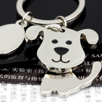 Wholesale 2014 High quality Spinning Cute Dog Keychain Key Chain Ring Unique KeyChain keyrings zinc alloy the best wedding Favor Key Fob Car Keychain