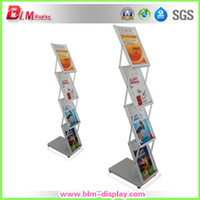 Wholesale for white metal A4 Brochure holder literature stand magazine rack